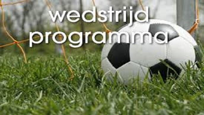 Wedstrijdprogramma zaterdag & mededelingen
