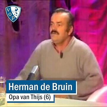 Herman de Bruin lacht zich rot